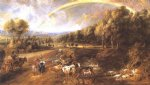 landscape acrylic paintings - landscape with a rainbow 3 by peter paul rubens