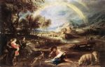 peter paul rubens landscape with a rainbow art