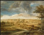 peter paul rubens landscape with an avenue of trees painting