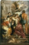 cat acrylic paintings - martyrdom of st catherine by peter paul rubens