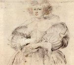 peter paul rubens portrait of helena fourment painting-26894