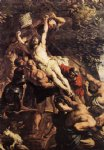 pet acrylic paintings - raising of the cross detail by peter paul rubens