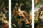 pet acrylic paintings - raising of the cross by peter paul rubens