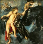 pet acrylic paintings - rape of ganymede by peter paul rubens