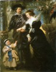 garden acrylic paintings - rubens with his family in garden by peter paul rubens