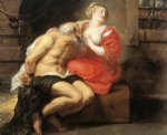 roman art - simon and pero roman charity by peter paul rubens