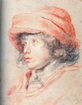 peter paul rubens original paintings - son nicolas with a red cap by peter paul rubens