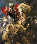 dragon original paintings - st george and a dragon by peter paul rubens