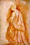 peter paul rubens original paintings - study for a standing female saint by peter paul rubens