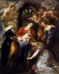 cat acrylic paintings - the crowning of st catherine by peter paul rubens