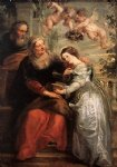 cat acrylic paintings - the education of the virgin by peter paul rubens