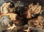 pet acrylic paintings - the four continents by peter paul rubens