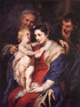 peter paul rubens the holy family with st. anne paintings