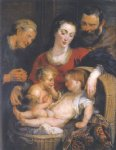 peter paul rubens the holy family with st elizabeth paintings