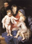 peter paul rubens the holy family with sts elizabeth and john the baptist paintings