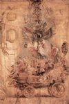 the triumphal car of kallo sketch by peter paul rubens painting