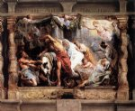 pet acrylic paintings - the victory of eucharistic truth over heresy by peter paul rubens