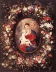 flower original paintings - the virgin and child in a garland of flower by peter paul rubens