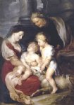 pet acrylic paintings - the virgin and child with st elizabeth and the infant st john the baptist by peter paul rubens