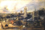 pet acrylic paintings - tournament in front of castle steen ii by peter paul rubens