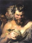 peter paul rubens two satyrs painting
