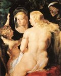 replica acrylic paintings - venus at a mirror by peter paul rubens