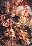 peter paul rubens virgin and child enthroned with saints paintings