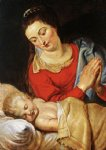 peter paul rubens virgin and child iv painting