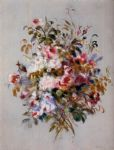 pierre auguste renoir a bouquet of roses painting