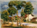 a sunny street by pierre auguste renoir painting