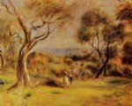 pierre auguste renoir art - a walk by the sea by pierre auguste renoir