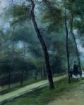 pierre auguste renoir art - a walk in the woods by pierre auguste renoir
