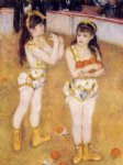 pierre auguste renoir art - acrobats at the cirque fernando by pierre auguste renoir
