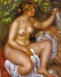 after the bath by pierre auguste renoir painting
