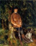 pierre auguste renoir alfred berard and his dog painting-76786