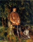 pierre auguste renoir art - alfred berard and his dog by pierre auguste renoir