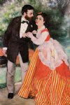 pierre auguste renoir art - alfred sisley with his wife by pierre auguste renoir