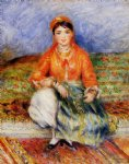 algerian girl by pierre auguste renoir painting