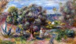 aloe picking at cagnes by pierre auguste renoir painting