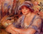 pierre auguste renoir andree in blue painting
