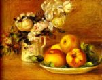 apples and flowers (les pommes et fleurs) by pierre auguste renoir paintings