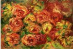 armful of roses by pierre auguste renoir paintings