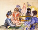 at the moulin de la galette by pierre auguste renoir original paintings