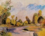 banks of a river by pierre auguste renoir painting