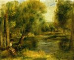 banks of the river ii by pierre auguste renoir painting