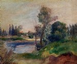 banks of the river by pierre auguste renoir painting
