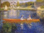 pierre auguste renoir banks of the seine at asnieres i art