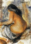 bather from the back by pierre auguste renoir painting