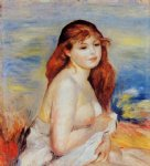 bather by pierre auguste renoir painting