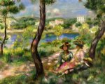 beaulieu women and little boy by pierre auguste renoir original paintings